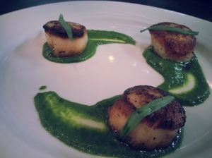 Scallops with a Parsley Coulis