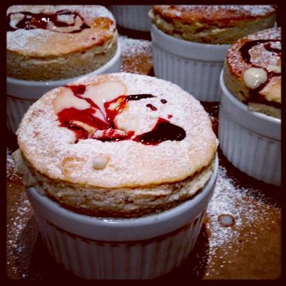 Blackberry Desire Soufflé Crème Anglaise & Desire Reduction