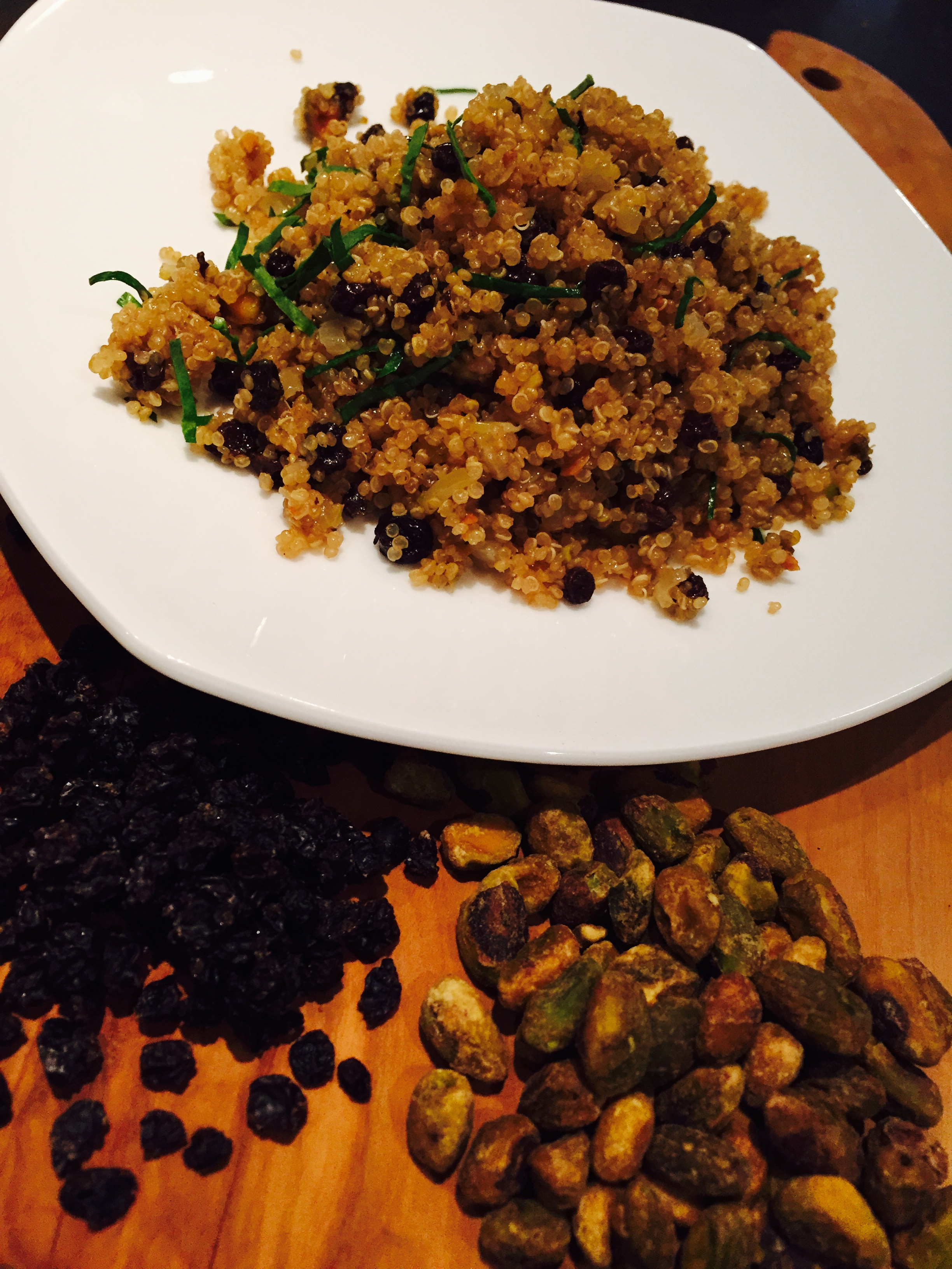 Quinoa with Pistachios, Currants, Red Onion & Mint